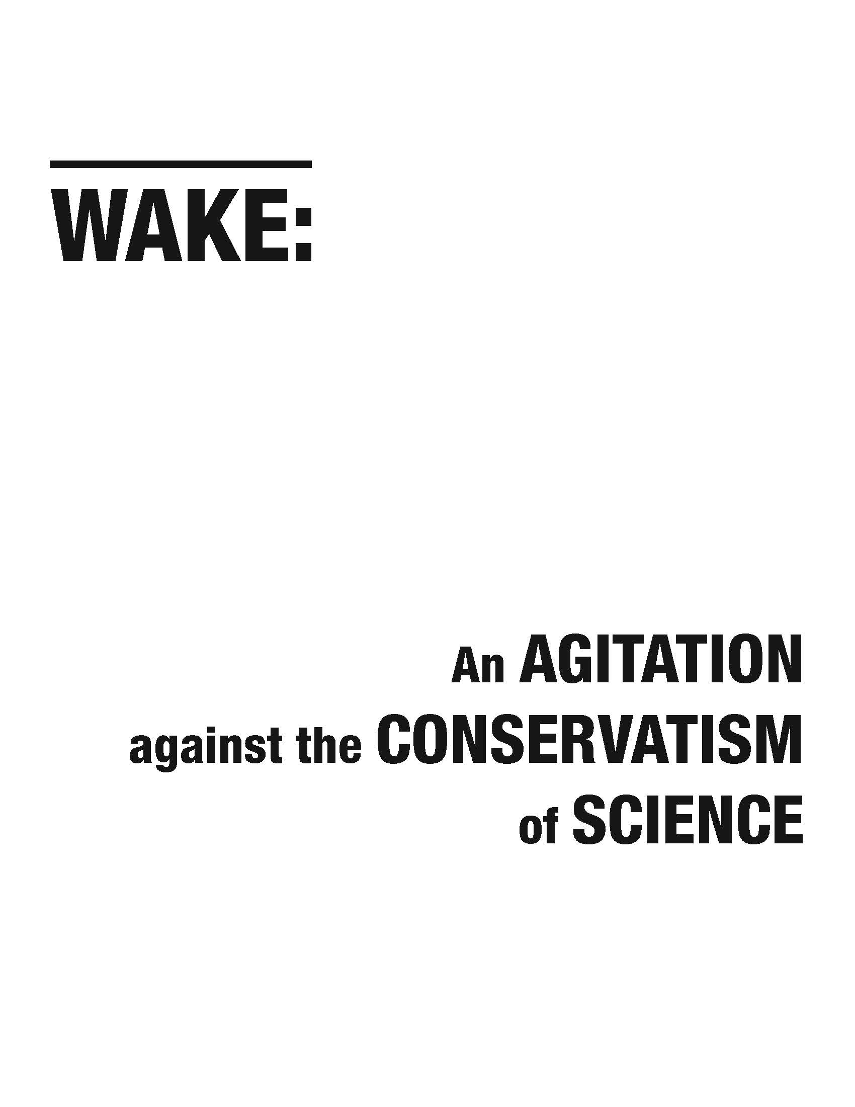 Wake Manifesto (2012)